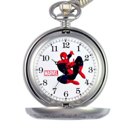 Marvel Men's 51mm Spider-Man Pocket Watch in Silvertone Alloy