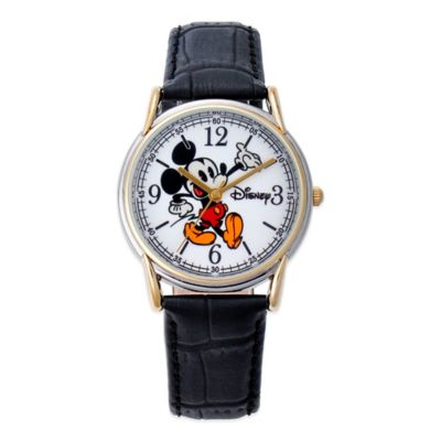 Two-Tone Alloy with Black Strap Fashion Watches
