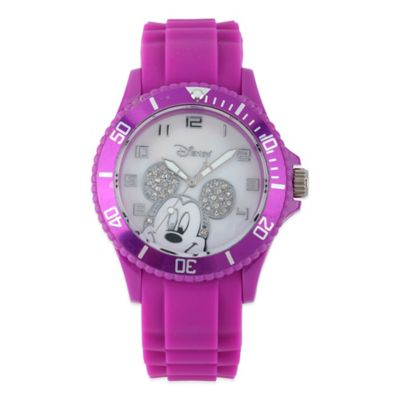 Disney® Ladies' 40mm Mickey Mouse Diver Watch in Purple