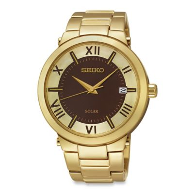 Seiko Ladies' Solar Recraft Watch in Goldtone Stainless Steel