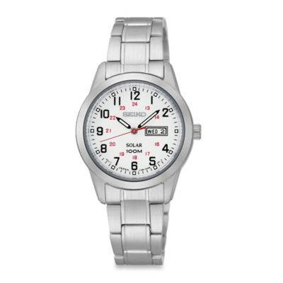 Seiko Ladies' Solar Watch in Stainless Steel