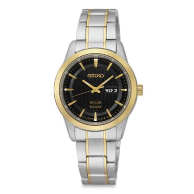 Seiko Ladies' Two-Tone Stainless Steel Solar Dress Watch in Stainless Steel