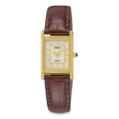 Seiko Ladies' Square Solar Watch Women's Watches