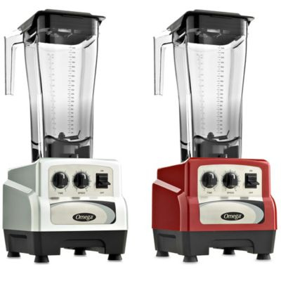 Omega® BL490 82 oz. 3-HP Variable Speed Commercial Blender with Advanced Timer in Red