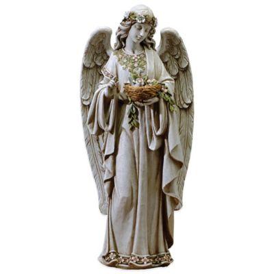 Joseph's Studio Angel Holding Nest Garden Statue