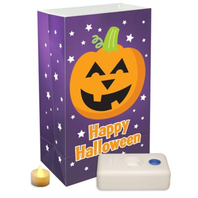 Battery Operated 12-Count Pumpkin Luminaria Kit