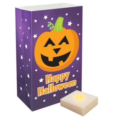 LumaLite 6-Count Pumpkin Luminaria Kit