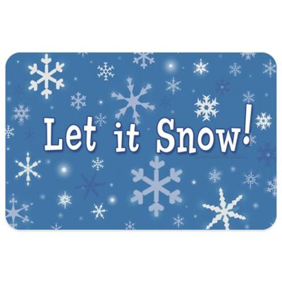 Bungalow Flooring Let It Snow 18-Inch x 27-Inch Floor Mat