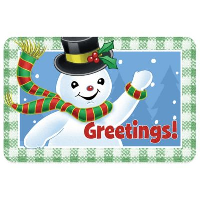 Bungalow Flooring Snowman Greetings 18-Inch x 27-Inch Floor Mat