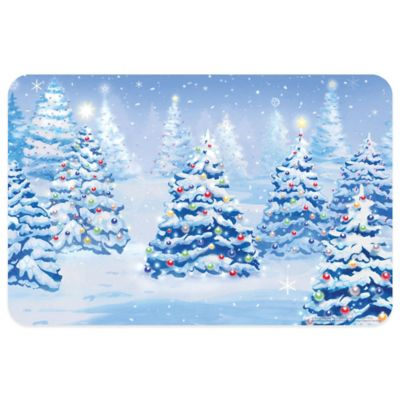 Bungalow Flooring Winter Pines 18-Inch x 27-Inch Floor Mat