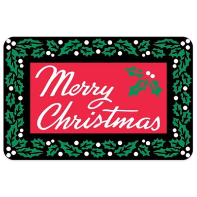 Bungalow Flooring Merry Christmas 18-Inch x 27-Inch Floor Mat