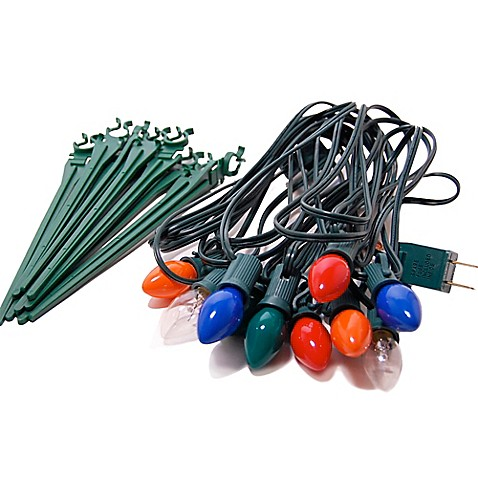 Electric pathway lights in multicolor 10 count www for Electric walkway lights