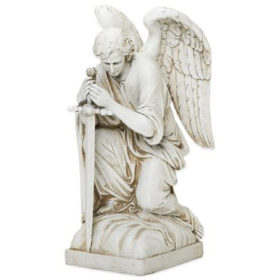 Joseph's Studio Kneeling Male Angel Garden Statue
