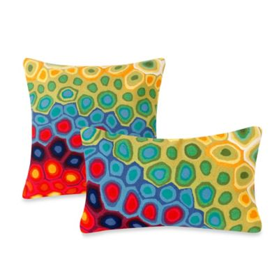 Liora Manne 20-Inch Square Outdoor Throw Pillow in Pop Swirl Multi