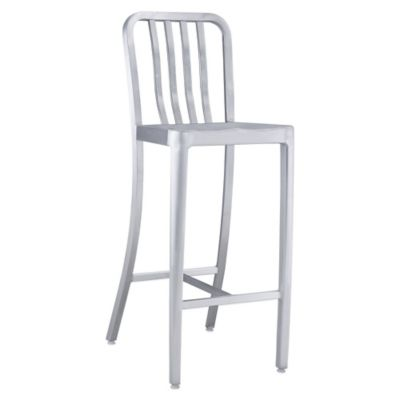 Zuo Modern Gastro Bar Chair in Brushed Aluminum