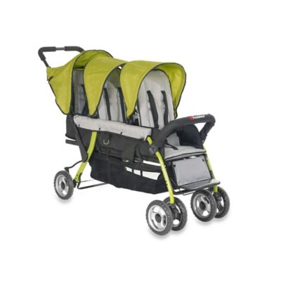 Foundations® Trio Sport™ Splash of Color 3-Passenger Stroller in Lime