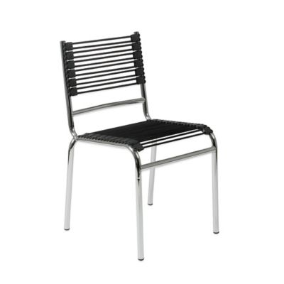 Eurostyle Bungie-S Stacking Chair in Black/Chrome (Set of 4)