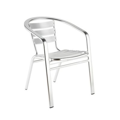 Eurostyle Sadie Aluminum Arm Chair (Set of 6)
