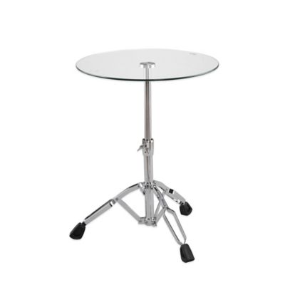 Eurostyle Drum Side Table in Clear/Chrome