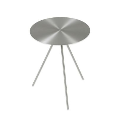 Eurostyle Faith Side Table in Brushed Nickel