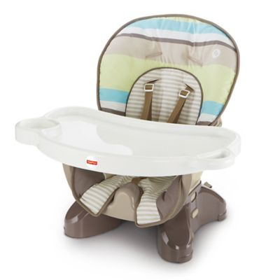 Fisher-Price® SpaceSaver High Chair in Green Stripe