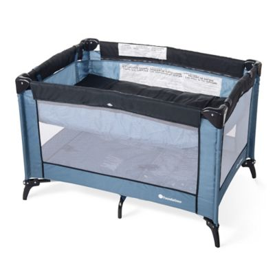 Foundations® Sleep 'N Store® Portable Playard Crib with Bassinet in Dark Blue