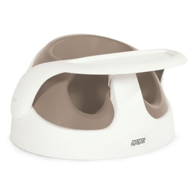 Mamas & Papas Baby Snug Booster with Tray in Putty