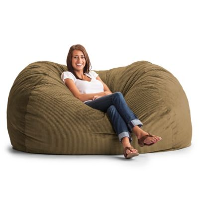 Comfort Research XL Wide Wale Corduroy Lounge Bean Bag Chair in Coffee