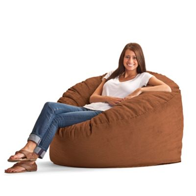 Comfort Research Large Wide Wale Corduroy Fuf Chair in Chocolate