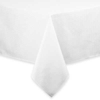 Sam Hedaya Lafayette 52-Inch x 70-Inch Oblong Tablecloth in White