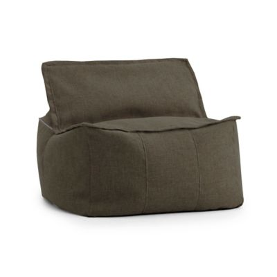 Comfort Research Big Joe Lux Zip It! Hitchcock Square Bean Bag in Espresso