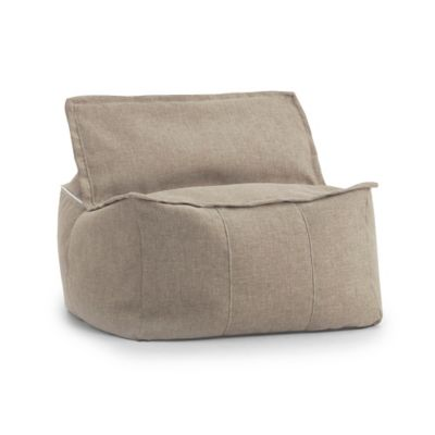 Comfort Research Big Joe Lux Zip It! Hitchcock Square Bean Bag in Khaki