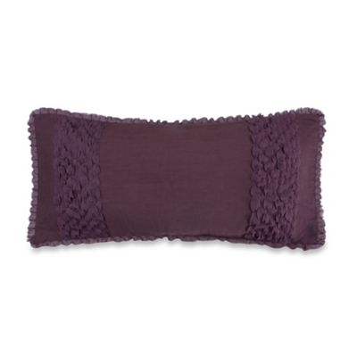 Jolie Decorative 16-Inch Oblong Throw Pillow in Purple