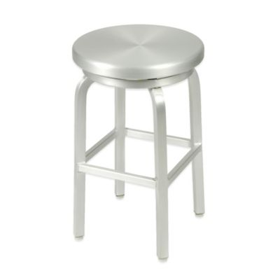 Eurostyle™ Miller-C Swivel Counter Stool in Matte Aluminum