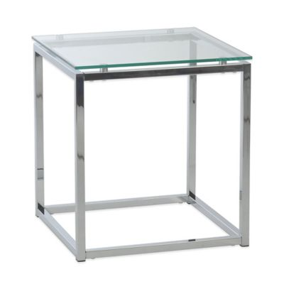 Eurostyle Sandor Side Table in Chrome