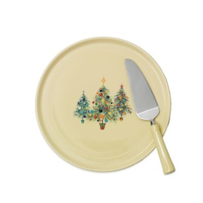 Fiesta® Christmas Tree Trio Cake Plate and Server Set