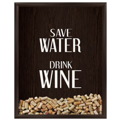Save Water Drink Wine Graphic Shadowbox