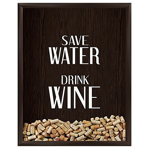 Save Water Drink Wine Graphic Shadowbox - BedBathandBeyond.com