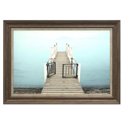 Dock with Gate Framed Wall Décor