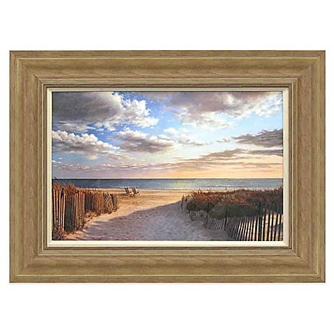 sunset beach framed wall art     bedbathandbeyond