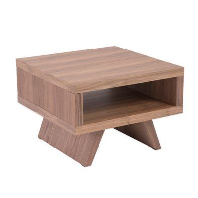 Eurostyle Monique Side Table in Walnut