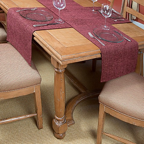 Tablemattes Preston Runner Mat Set In Burgundy Bed Bath