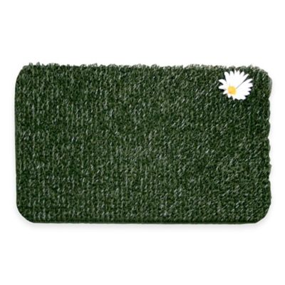 Clean Machine® Flair Small Daisy 18-Inch x 24-Inch Scraper Door Mat