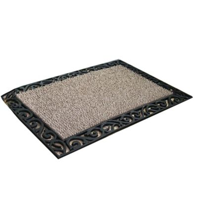 Clean Machine® Stems and Leaves 18-Inch x 30-Inch Scraper Door Mat in Wrought Iron
