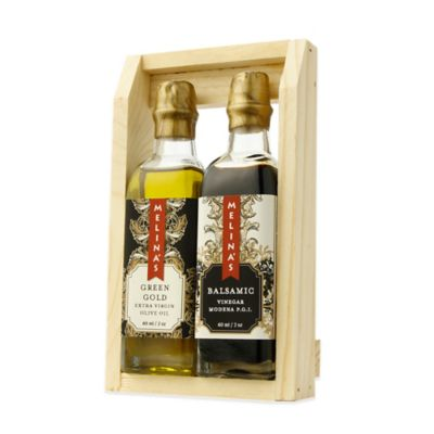Melina's 2-Piece Green Gold Extra Virgin Olive Oil and Premium Balsamic Vinegar Mini Gift Set