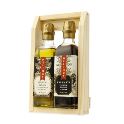 Melina's 2-Piece Green Gold Extra Virgin Olive Oil & Aged Kalamata Vinegar Mini Gift Set