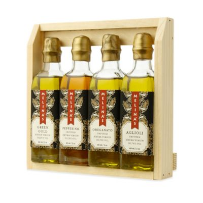 Melina's 4-Piece Assortment of Extra Virgin Olive Oils