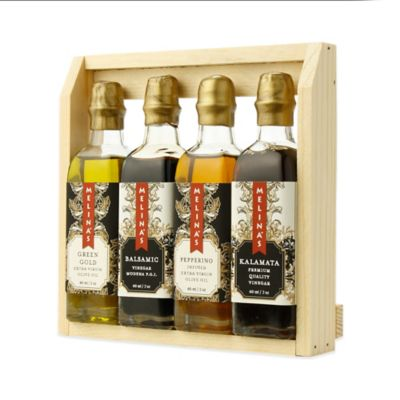 Melina's 4-Piece Assortment of Extra Virgin Olive Oils and Premium Vinegars