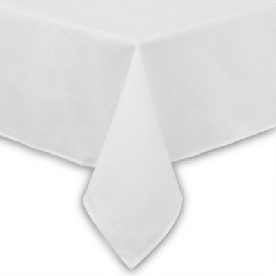 Basketweave Tablecloth - 70-Inch Square - White