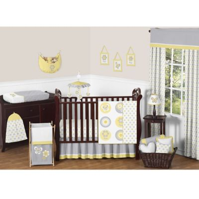 Sweet Jojo Designs Mod Garden 11-Piece Crib Bedding Set